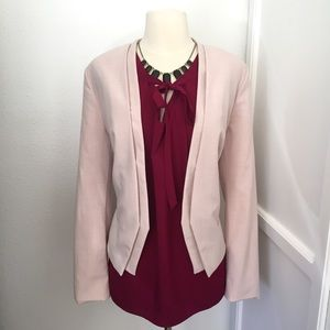 Worthington Blush Pink Open Front Blazer